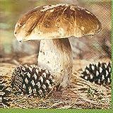 20 Servietten Fungus - Steinpilz / Herbst / Pilz 33x33cm