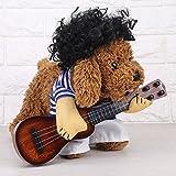 Disfraz de Mascota Traje de Gato Para Perro Mujer Hombre Disfraz de Mascota Divertido Traje de Estilo Guitarrista Algodón de Alta Calidad(XL)