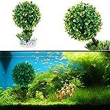 Embiofuels TM Künstliche Wasserpflanzen Baum Aquarium Fisch Tank Ornaments Wasser Gras Decor Landschaft Aquarium Dekoration Ornament, Grün