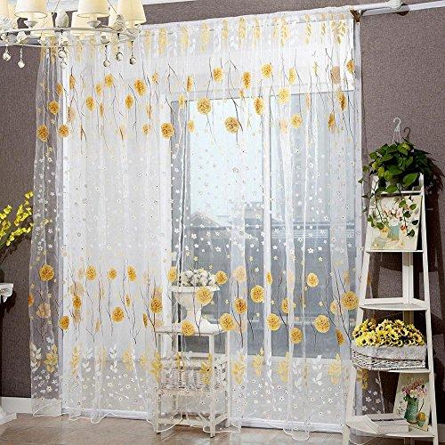 Gowind6tenda soggiorno porta tenda della finestra balcone drappo pannello stampa offset snowball fiore yellow