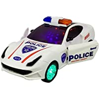 BVM GROUP Battery Operated car Kids Musical Toy and Rotation 3D Police CAR for Kids Bump and Go 3D Lights Police Car…