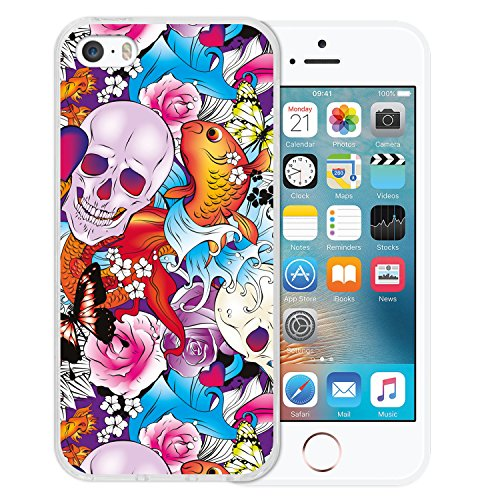 iPhone SE iPhone 5 5S Hülle, WoowCase® [Hybrid] Handyhülle PC + Silikon für [ iPhone SE iPhone 5 5S ] Husky-Hunde Sammlung Tier Designs Handytasche Handy Cover Case Schutzhülle - Transparent Housse Gel iPhone SE iPhone 5 5S Transparent D0568