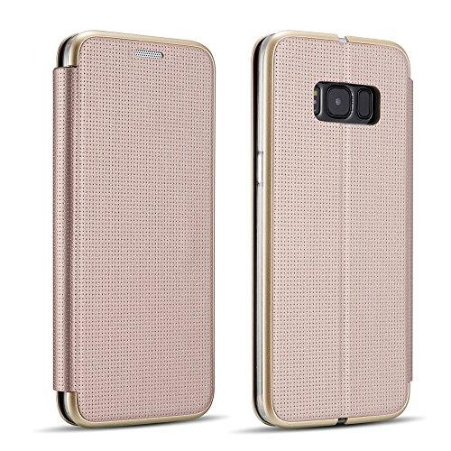 ZCDAYE Schutzhülle für Samsung (17 Pinhole Design), Polycarbonat, Gold, Samsung Galaxy S7 Edge