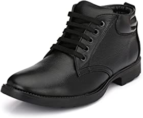 Mactree Men's Leather Mid Top Boots