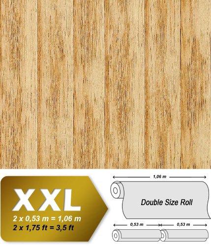 papier-peint-intiss-haut-de-gamme-relief-edem-944-21-aspect-lambris-du-bois-du-pin-naturel-jaune-bru