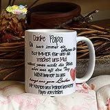 Kaffeebecher ~ Tasse - Danke Papa (wir) ~ Vater ~ Weihnachten Geschenk