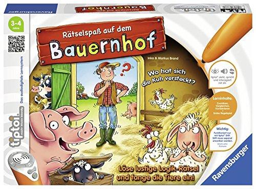 tiptoi® Rätselspaß auf dem Bauernhof: Löse lustige Logik-Rätsel und fange die Tiere ein!