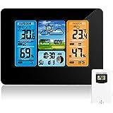 Estación meteorológica inalámbrica Pronóstico de color digital Estación meteorológica Termómetro con alerta y temperatura Hum