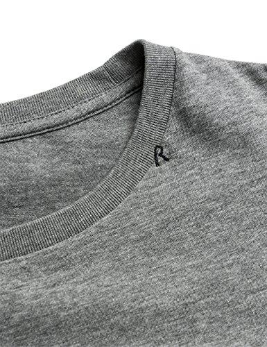 Replay Men's Men's Grey T-Shirt With Print 100% Cotton Grau