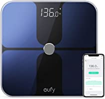eufy Smart Personenwaage mit Bluetooth 4.0, Bluetooth Digitale Körperwaage mit großem LED Display,...