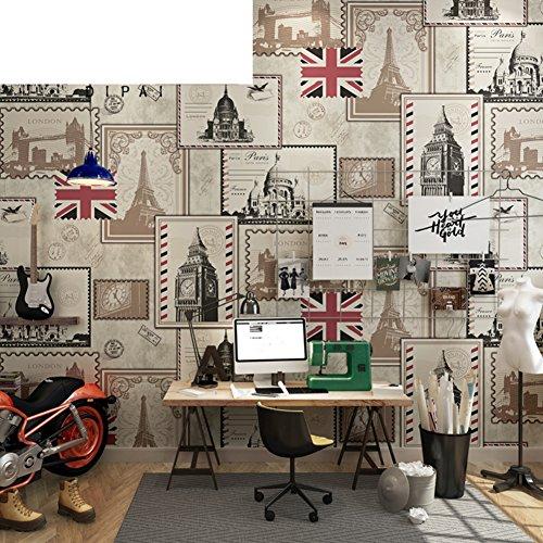 gxx-european-retro-wallpaper-dangleterre-papier-peint-retro-casual-cafe-restaurant-bar-fond-decran-a