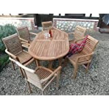 "Teak Garden Furniture 13 Piece ""Syracruse"" Set New 2016 Model By Humber Imports"