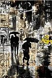 Posterlounge Alu Dibond 100 x 150 cm: Stadtschwarz von Loui Jover