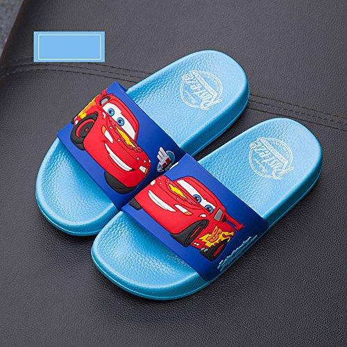 Home & Style Sommer Familie Hausschuhe Eltern Kinder Cartoon Schuhe Anti-Rutsch-Badezimmer Haushalt Innenschuhe Sandalen Wasserdichte Schuhe Meer Elektro-Optik blau 200