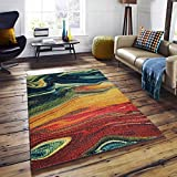 A2Z Rug Modern Colourful Contemporary Design Area Rugs Rio Collection 5707, Multi 160x230 cm - 5