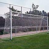 Donet Fußballtornetz 7,50 x 2,50 m Tiefe oben 0,80/unten 1,50 m, PP 4 mm ø, weiß