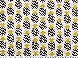 Zanderino ab 1m: Baumwolldruck, Ananas, Natur-grau-senf,