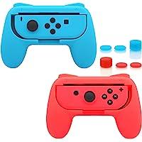 FASTSNAIL Impugnature per Joy-Con Nintendo Switch Manico Grip Kit con 6 prese del pollice
