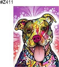 Gmgqsago Z407 Kreative bunte Hund DIY Kreuzstich Vollharz Diamant Gemälde Wanddekoration