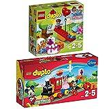LEGO Duplo 2er Set 10597 10832 Mickey & Minnie Geburtstagsparade + Geburtstagspicknick