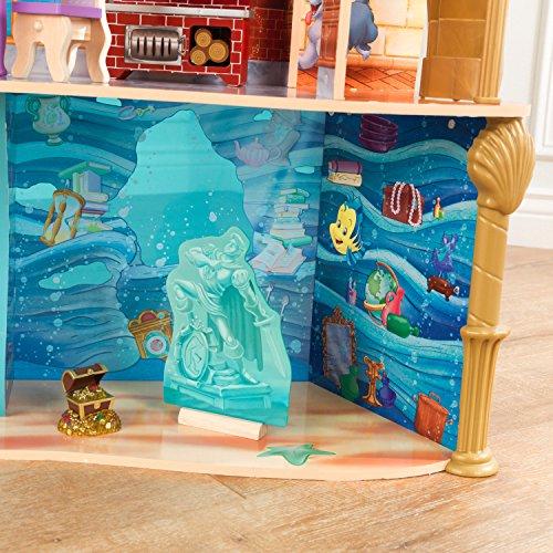 KidKraft 65939 Casa de muñecas de madera Princesa Disney® Palacio Ariel Land to Sea para muñecas de 30cm con 12 accesorios incluidos y 3 niveles de juego