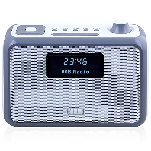 DAB Clock Radio - August MB400 - Portable DAB+ Kitchen Speaker with Bluetooth