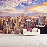 azutura Sonnenuntergang Scyscrapers Wandbild New York Skyline Foto-Tapete Wohnzimmer Dekor Erhältlich in 8 Größen Riesig Digital