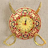 Gift Shop Rajasthani Real Brass Sword Armour Wall Clock -107