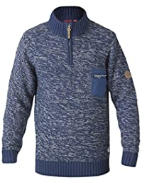hommes TRICOT D555 DUKE King TAILLES Pull tricot Pull-over fermeture éclair haut hiver NEUF