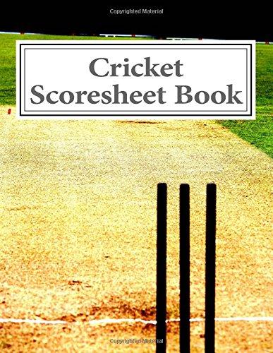 Cricket Scoresheet Book: 100 Pages (50 sheets) por Julien Coallier