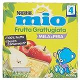 Nestlé Mio Frutta grattugiata Mela e Pera da 4 Mesi, senza Glutine, Confezione da 4x100 gr, Totale: 400 gr - [confezione da 6]