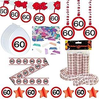 competitive price bf6f3 224e0 Deko Set 42 tlg. 60.Geburtstag Party Box Dekoration Glitter Girlande  Luftballons