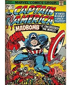 Toile Imprimée Captain America Marvel 50cm x 70cm