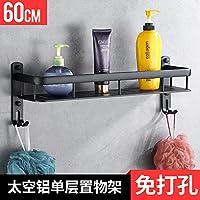 Comparador de precios BATHAE Aluminio espacio Negro Negro plataforma de baño cuadrado de la pared montado en estante antiguo Champú los accesorios del cuarto de baño Conjunto de hardware, nos - precios baratos