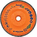 "Walter Surface Technologies 15Q458 Enduro-Flex Stainless Abrasive Flap Disc, Type 29, 80 Grit, 7/8"" Arbor, Trimmable Wood Fiber Backing, Zirconia Alumina (Pack of 10) by Walter Surface Technologies"