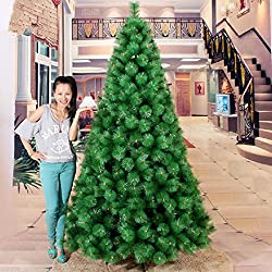 6 FEET ARTIFICIAL PINE CHRISTMAS TREE- METAL STAND + DECORATIVE ITEMS