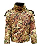Parka Militare Vegetato Mimetico Impermeabile Nylon con Interna Staccabile in Pile TG. L