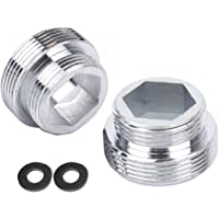 HATOOLHA® Lot de 2 adaptateurs de robinet en métal massif pour robinet de cuisine (M16 à M22)