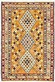Morgenland KELIM Seide Teppich 196 x 109 cm Orientteppich Orange Handgewebt