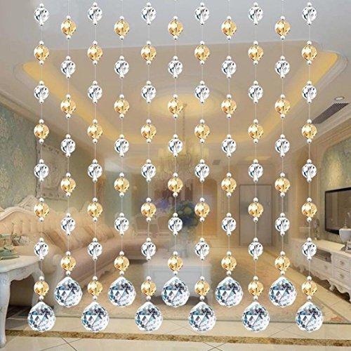 Vorhang-mini-leuchten (squarex 1Stück Kristall Glas Bead, montiert in Vorhang, Luxus Wohnzimmer Schlafzimmer Fenster Tür Hochzeit Decor, h, AS SHOW)
