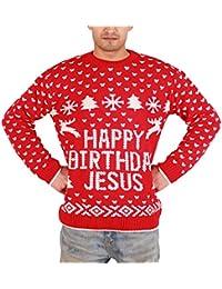 """Felpa da uomo, da adulti, motivo: Babbo Natale nudo con scritta """"Merry Christmas"""" ricamato"""
