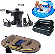 Aksh's AC Electric Vaccum Air Pump - Quickly Inflates/Deflates Sofa, Bed, Swimming Pool Tubes, Toys,Air Bags, Mattresses