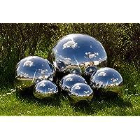 Köhko Sfera decorativa 4-100 cm lucidata in acciaio inossidabile di alta qualitá, sfera da giardino, sfera in acciaio inossidabile, sfera galleggiante ø 18 cm