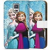 Samsung Galaxy S5 Tasche Hülle Flip Case Disney Frozen Geschenke Merchandise
