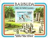 1984 Juegos Olímpicos con corredor que lleva la antorcha olímpica en el contexto de una ceremonia griega / 1984 / Barbuda