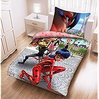 Parure di letto Miraculous ladybug e gatto nero per bambini–100% cotone