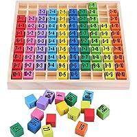 Jiahuade Abaques Bois,Montessori Maths,Table de Multiplication en Bois,Jouet en Bois Montessori,Jeu Multiplication,Jeux…