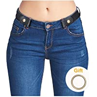 """No Buckle Invisible Ladies Elastic Waist Belt for Women Men Stretch Belt for Jeans Dress Pants up to 48"""" by SUOSDE"""