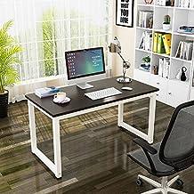 Mesa de Ordenador, Resistente Oficina Escritorio Estudio Escritorio, Moderno Simple Estilo Estación de Trabajo PC Mesa para Oficina en Casa (120x60x74cm, Negro)