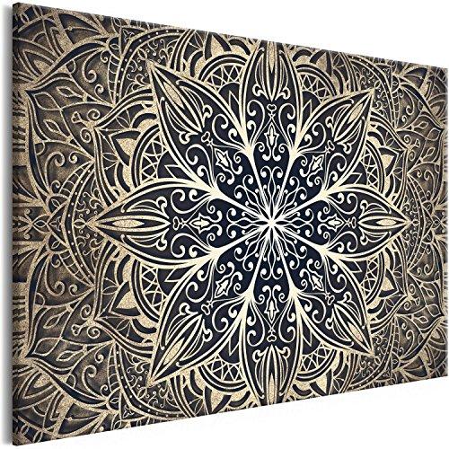 Murando Cuadro en Lienzo Mandala 120x80 cm 1 Parte Impresión en Material Tejido no Tejido Impresión...